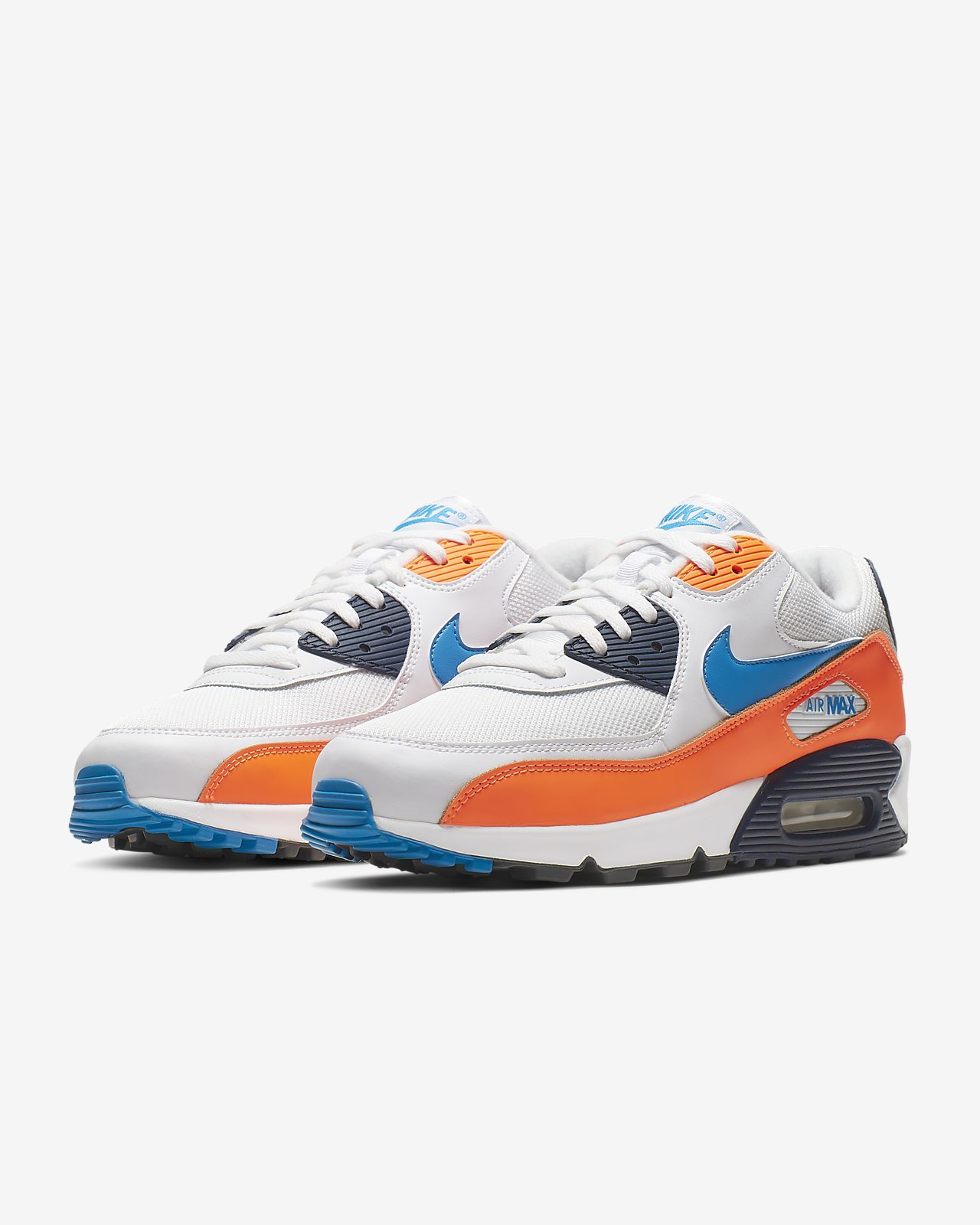 Nike Air Max 90 W shoes grey yellow blue