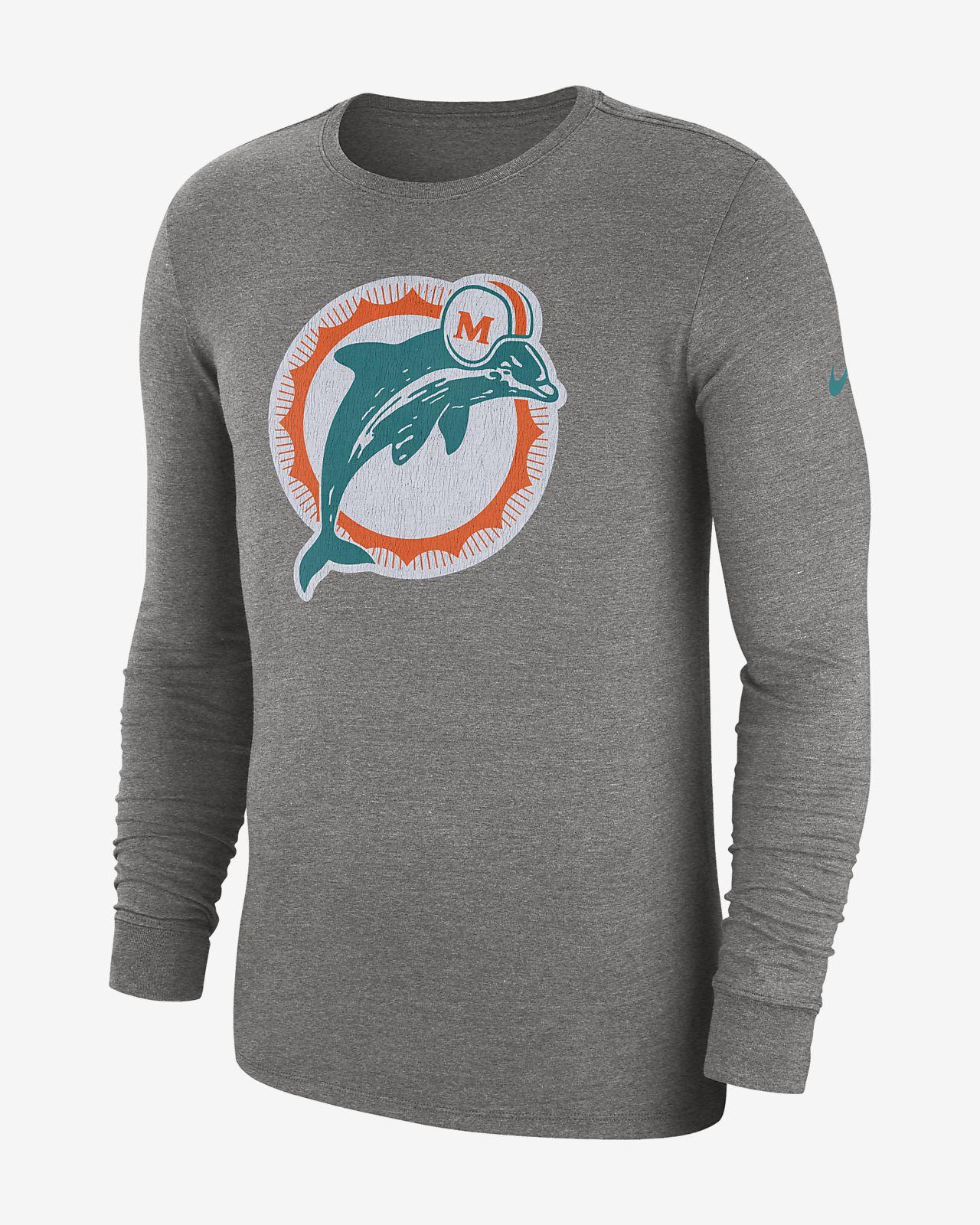 Pánské směsové tričko s dlouhým rukávem Nike (NFL Dolphins)