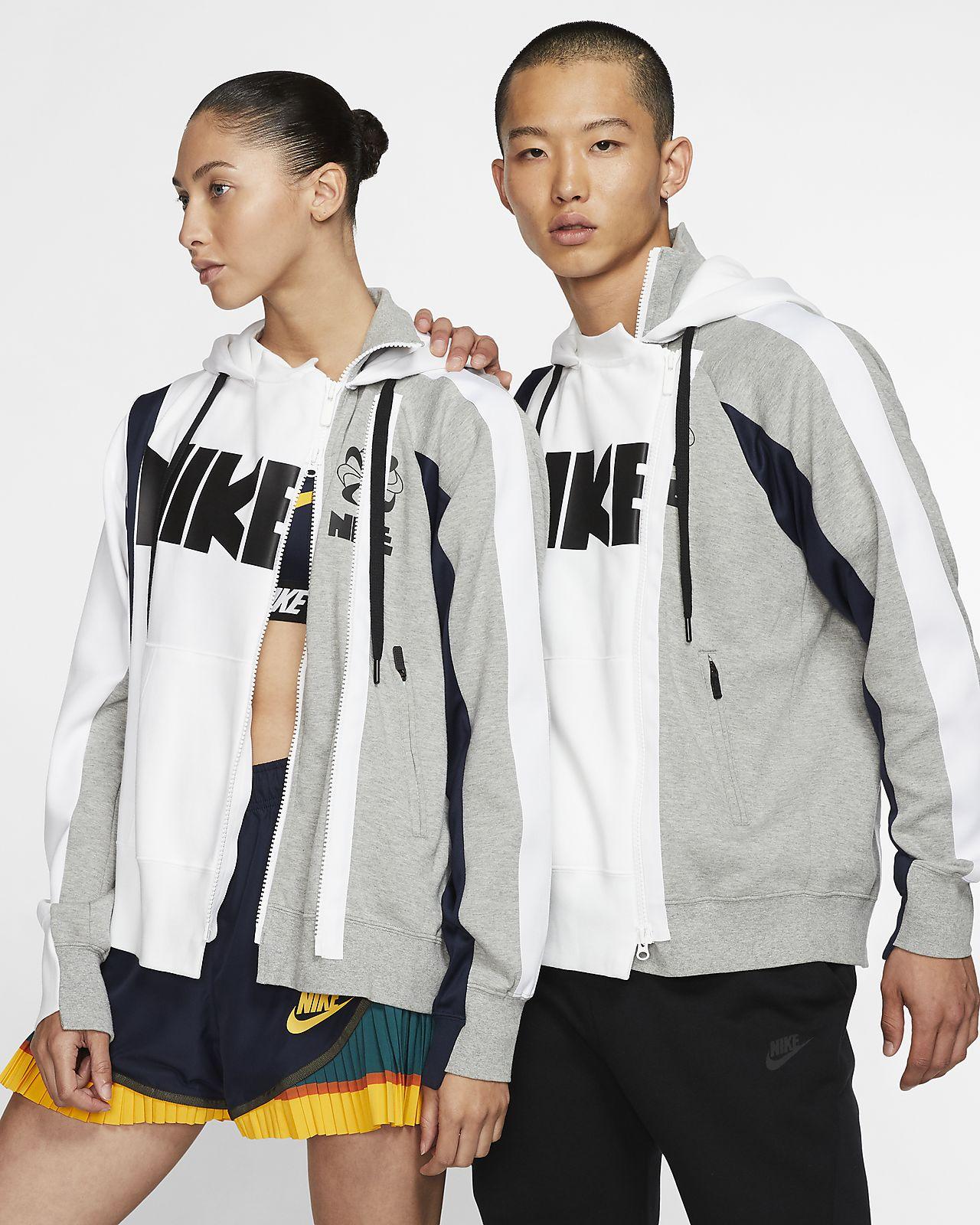 Nike x Sacai-hættetrøje med dobbelt lynlås
