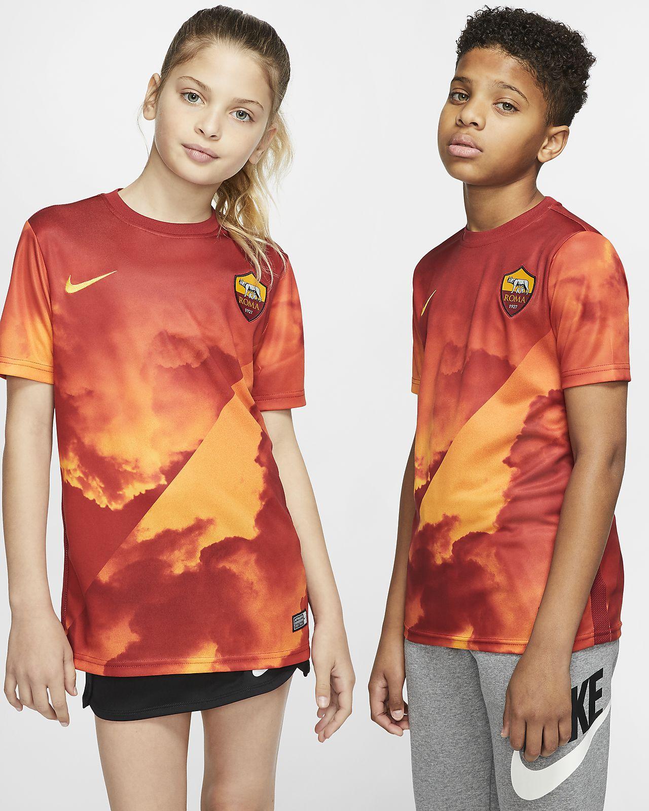 A.S. Rom Kurzarm-Fußballoberteil für Kinder