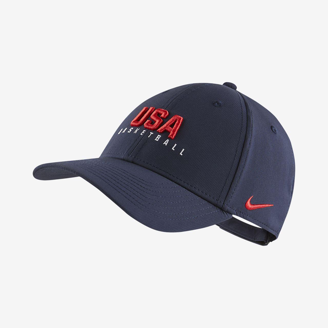 หมวกแก๊ปบาสเก็ตบอล USA Nike Dri-FIT Legacy91