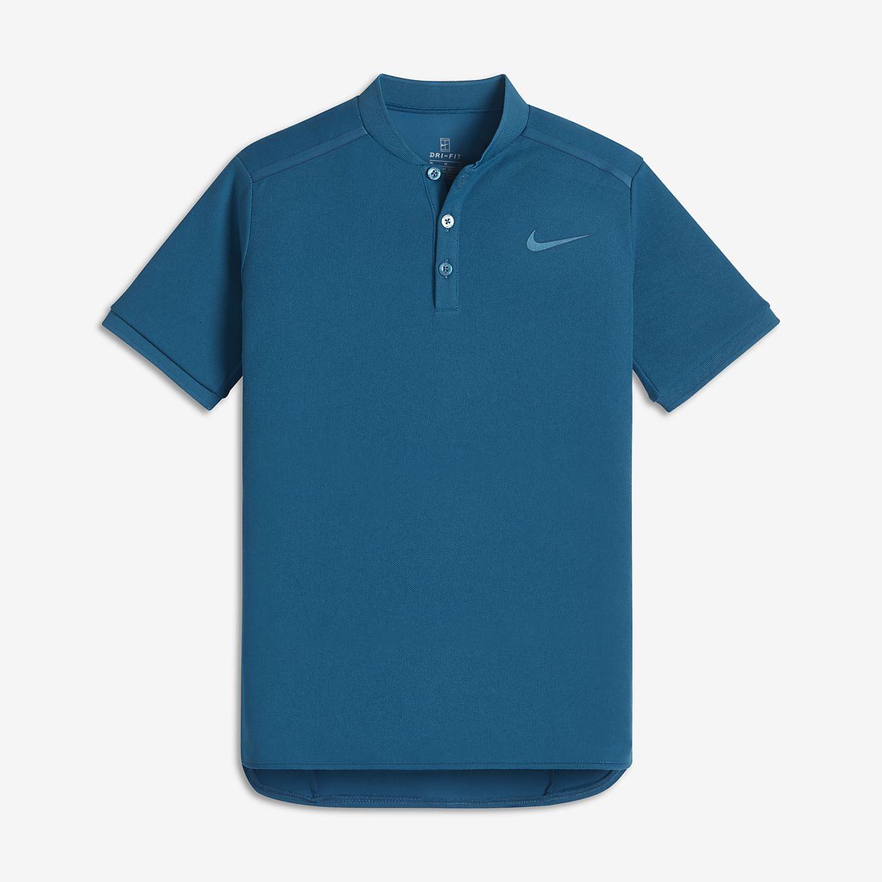 Μπλούζα πόλο για τένις NikeCourt για μεγάλα αγόρια