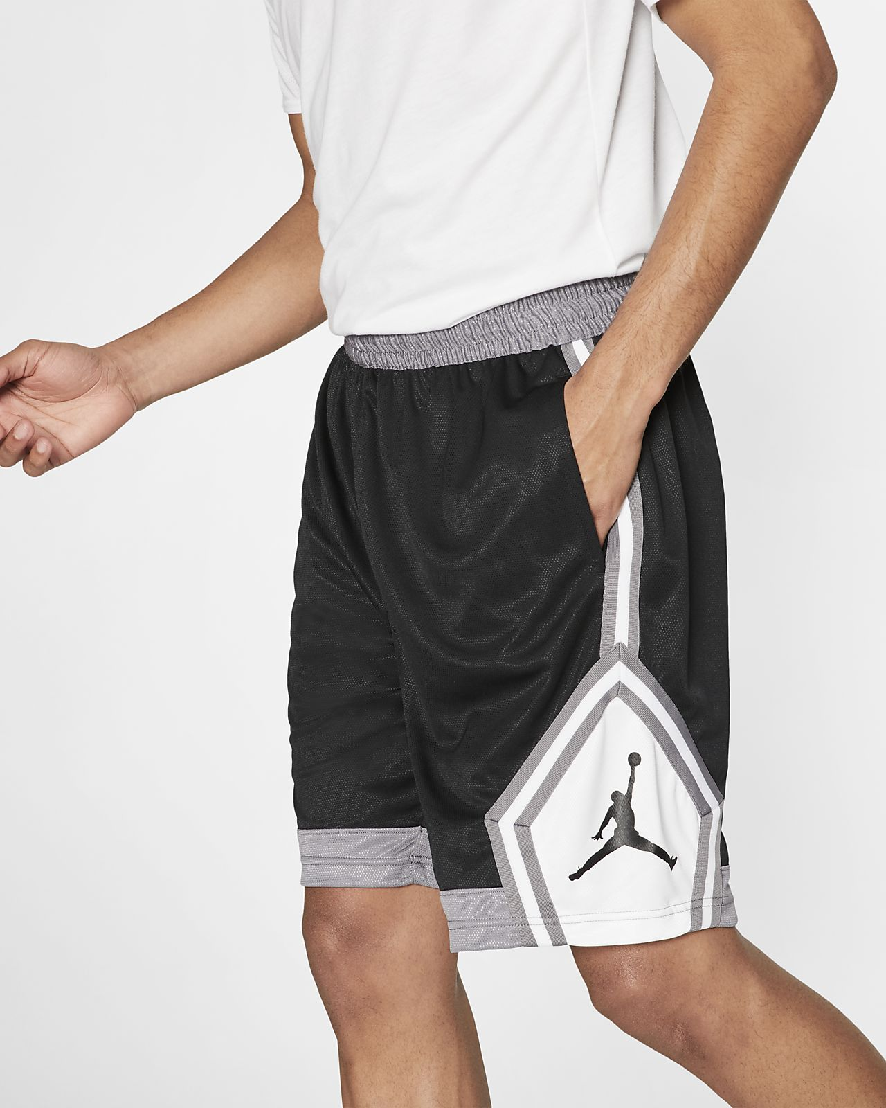 fc460bfa94 Jordan Jumpman Diamond Men's Striped Basketball Shorts