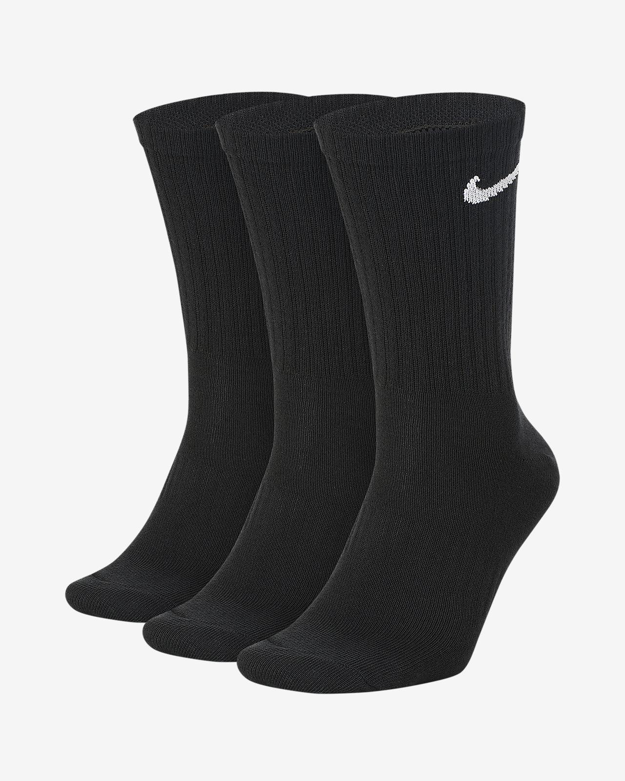 Nike Everyday leichte Crew-Trainingssocken für Herren (3 Paar)