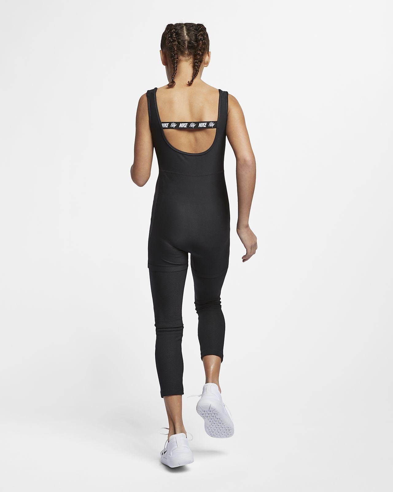 Nike Trainings-Bodysuit für ältere Kinder (Mädchen)