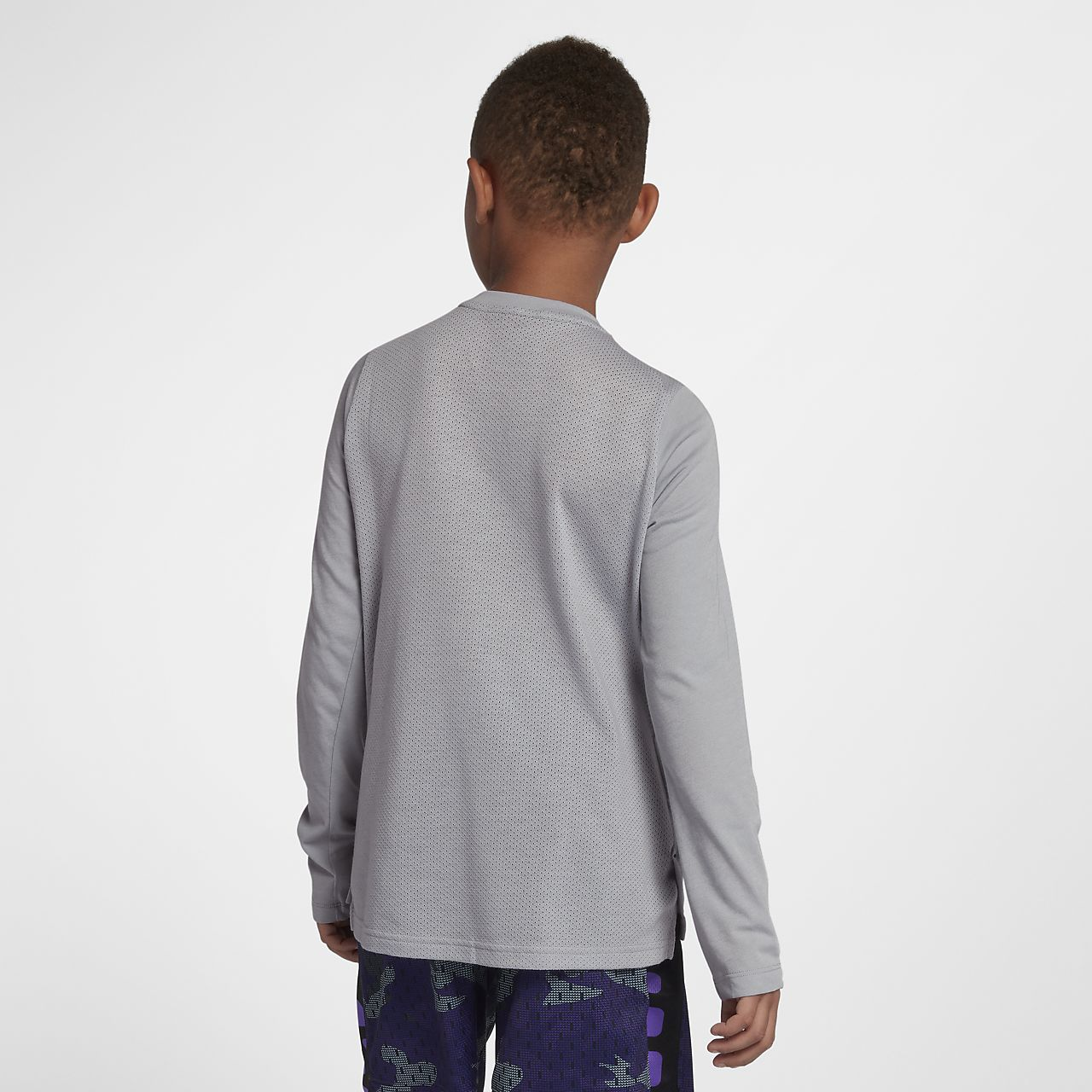 1fbddd9695c2 Nike Dri-FIT Elite Big Kids  (Boys ) Long Sleeve Basketball Top ...