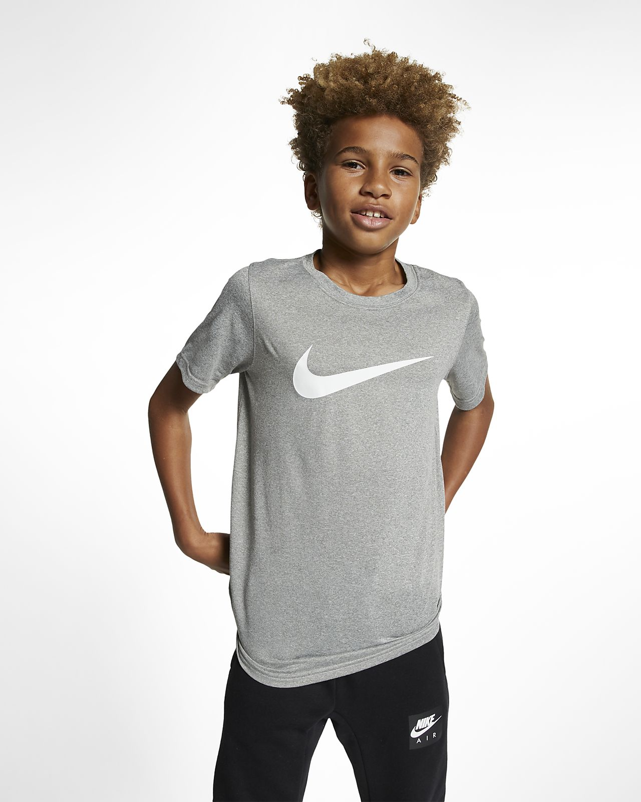 Nike Dri-FIT Big Kids' (Boys') Swoosh Training T-Shirt