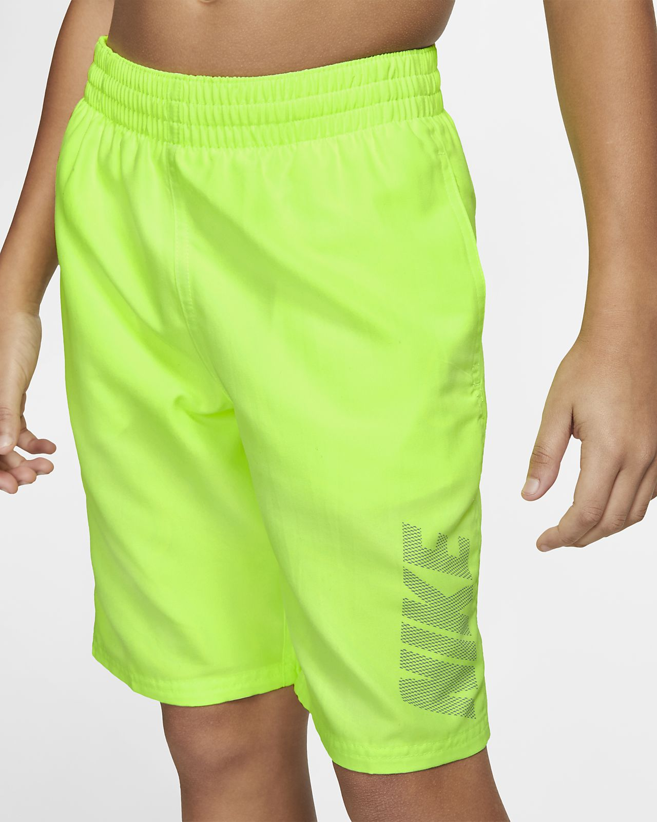 "Nike Solid Big Kids' (Boys') 8"" Swim Trunks"