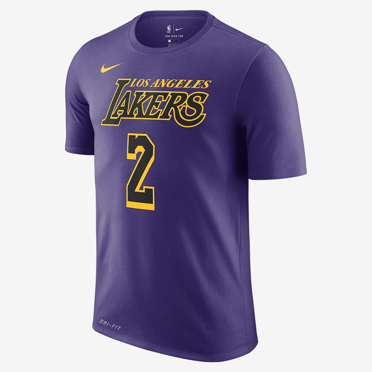 innovative design 43645 fc0a2 Lonzo Ball Los Angeles Lakers City Edition Nike Dri-FIT