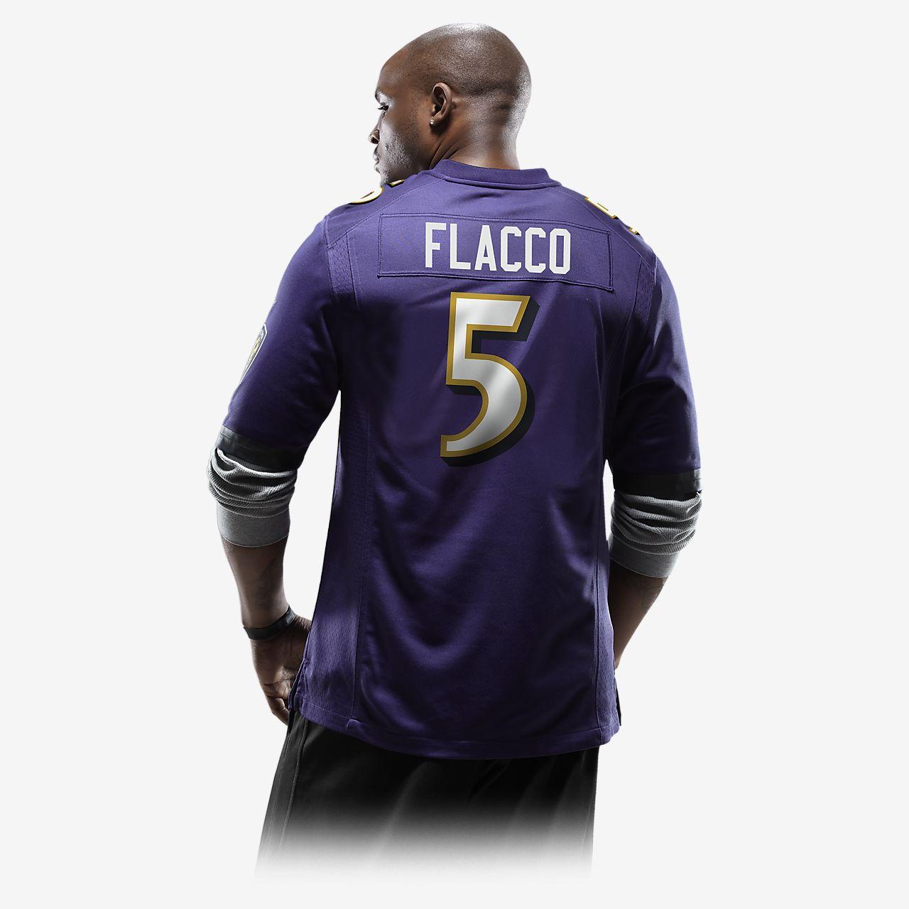 meet 8bfca 366d0 NFL Baltimore Ravens (Joe Flacco) Men's American Football Home Game Jersey