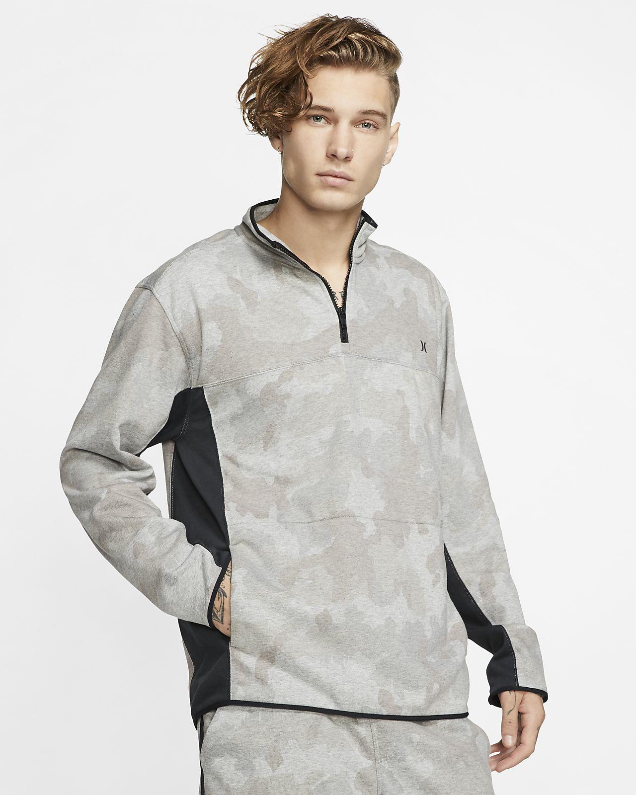Maglia in fleece con zip a 1/4 Hurley Dri-FIT Naturals - Uomo