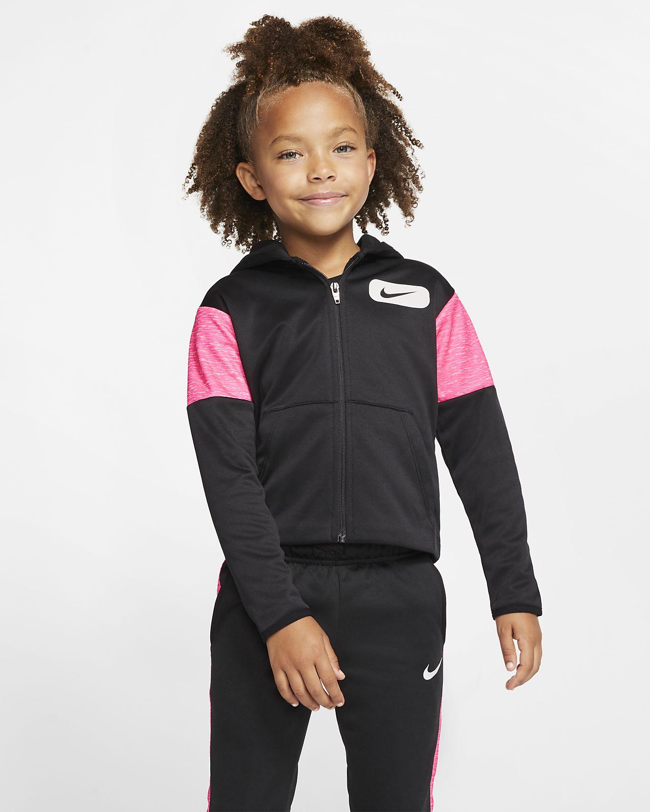 Nike Therma Little Kids' Fleece Full-Zip Hoodie