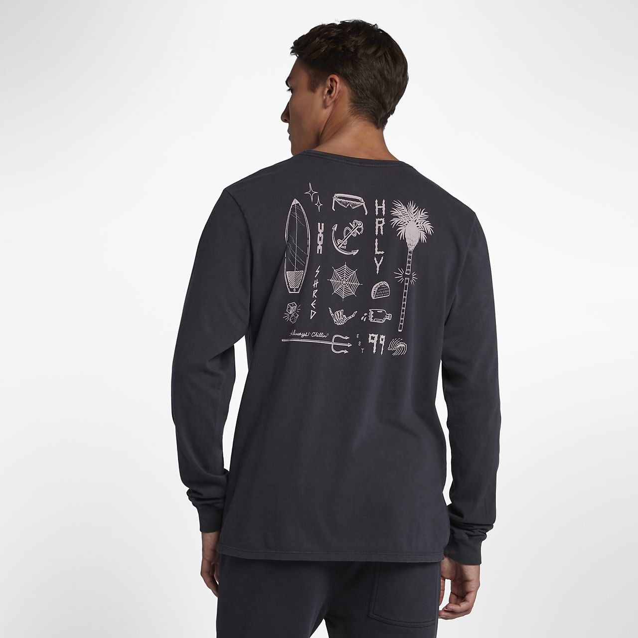 bdeaf1dbcf4 Hurley Shred Men s Long-Sleeve T-Shirt. Nike.com