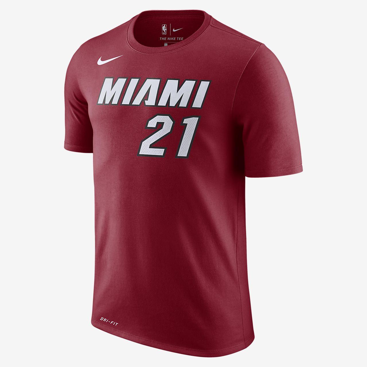 Hassan Whiteside Miami Heat Nike Dri-FIT Men's NBA T-Shirt