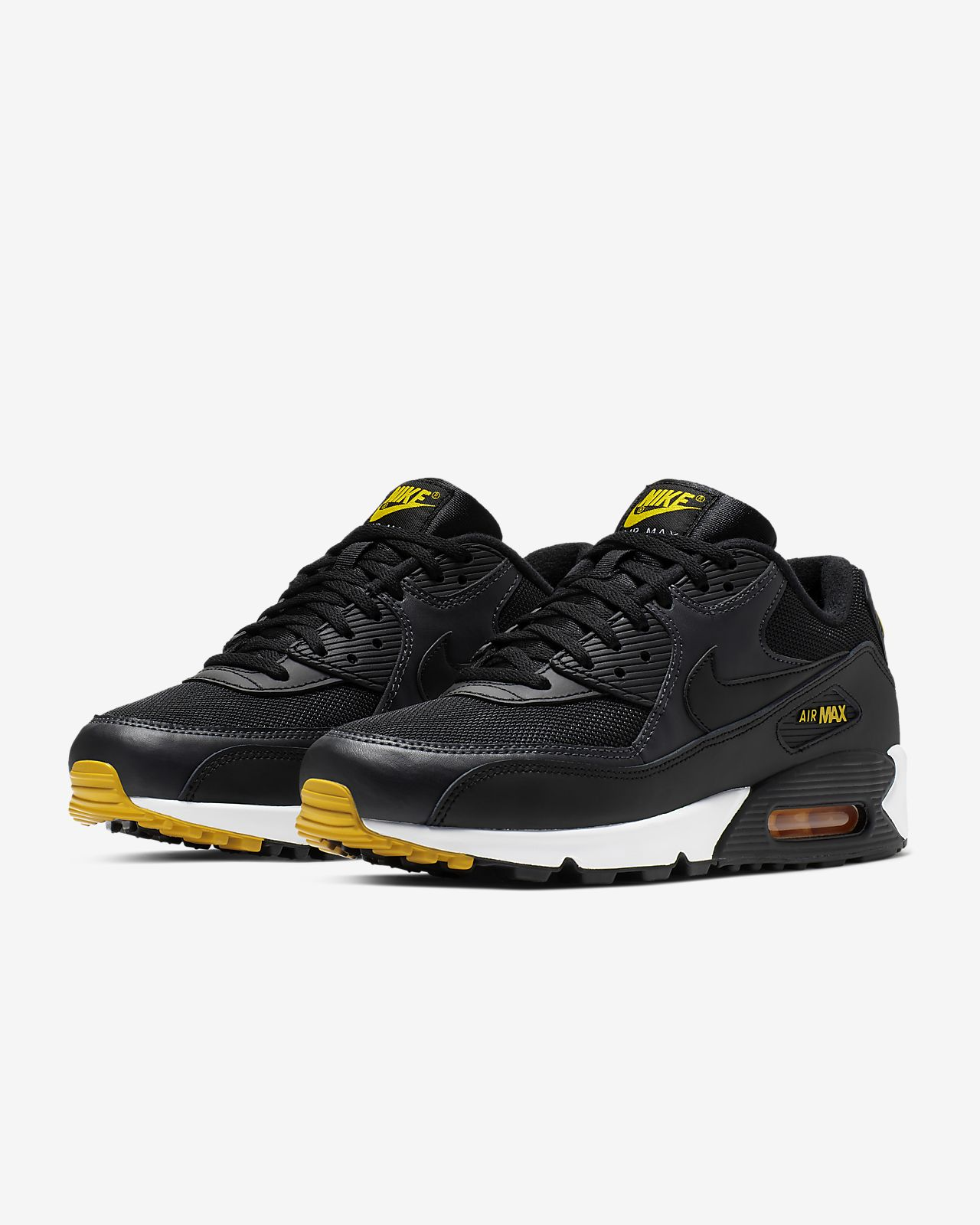 Nike Air MAX 90 Essential Trainers Amarillo 7 in L14