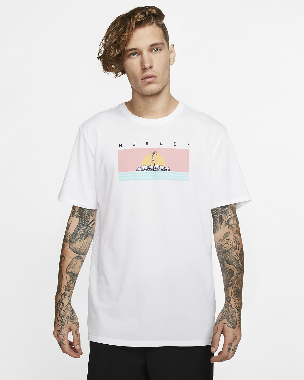 Hurley Dri-FIT Deserted Premium-Fit-T-Shirt für Herren