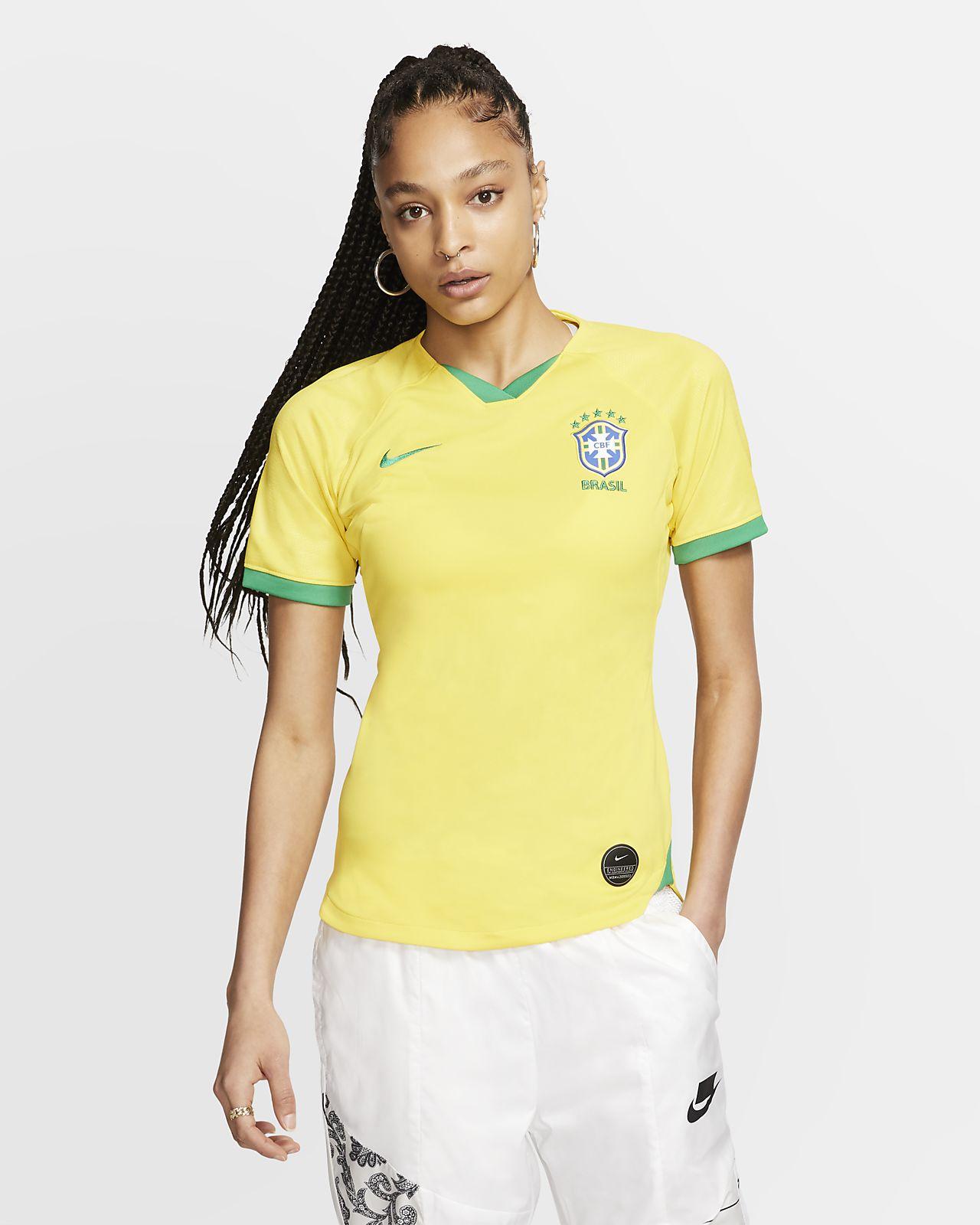 Camiseta de fútbol de local para mujer Stadium de Brasil 2019