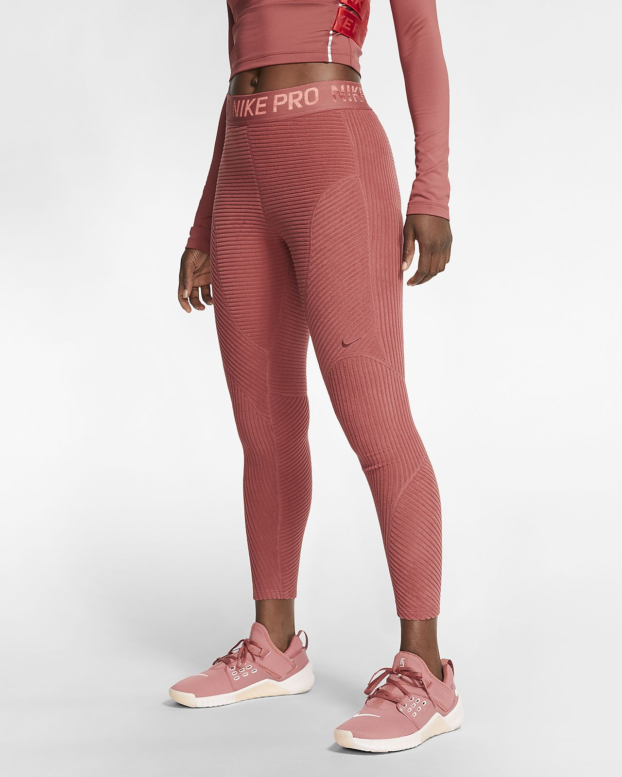 Tights in velour Nike Pro HyperWarm - Donna