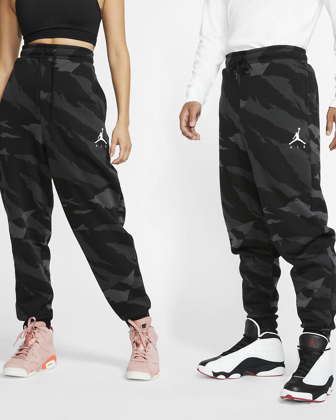 Флисовые брюки с камуфляжным принтом Jordan Jumpman