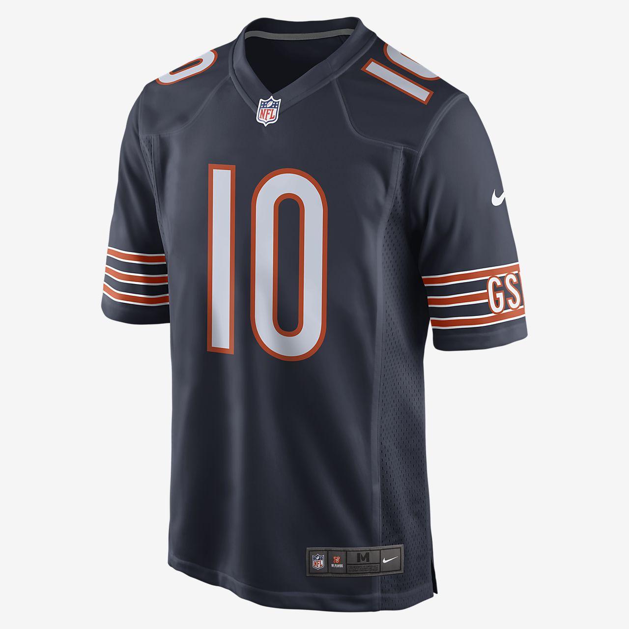 Camiseta Game de fútbol americano para hombre NFL Chicago Bears (Mitch Trubisky)