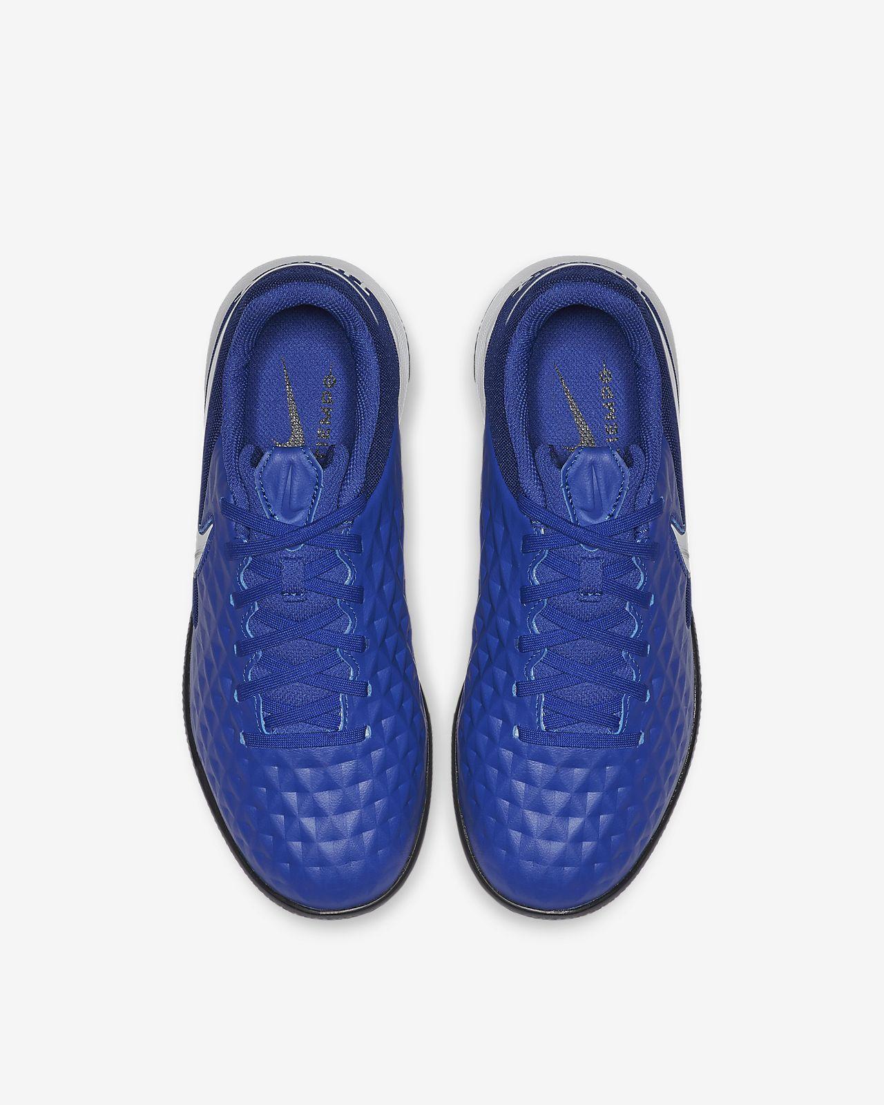 Nike Kinder Hallen Fussballschuhe Nike JR Legend 8 Academy IC blau weiß