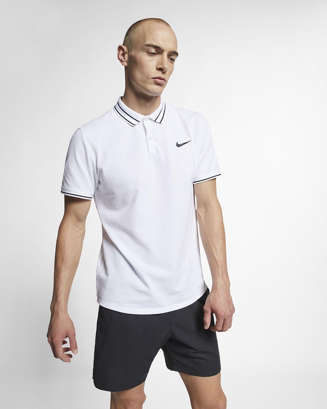 NikeCourt Advantage tennispikétröja för män