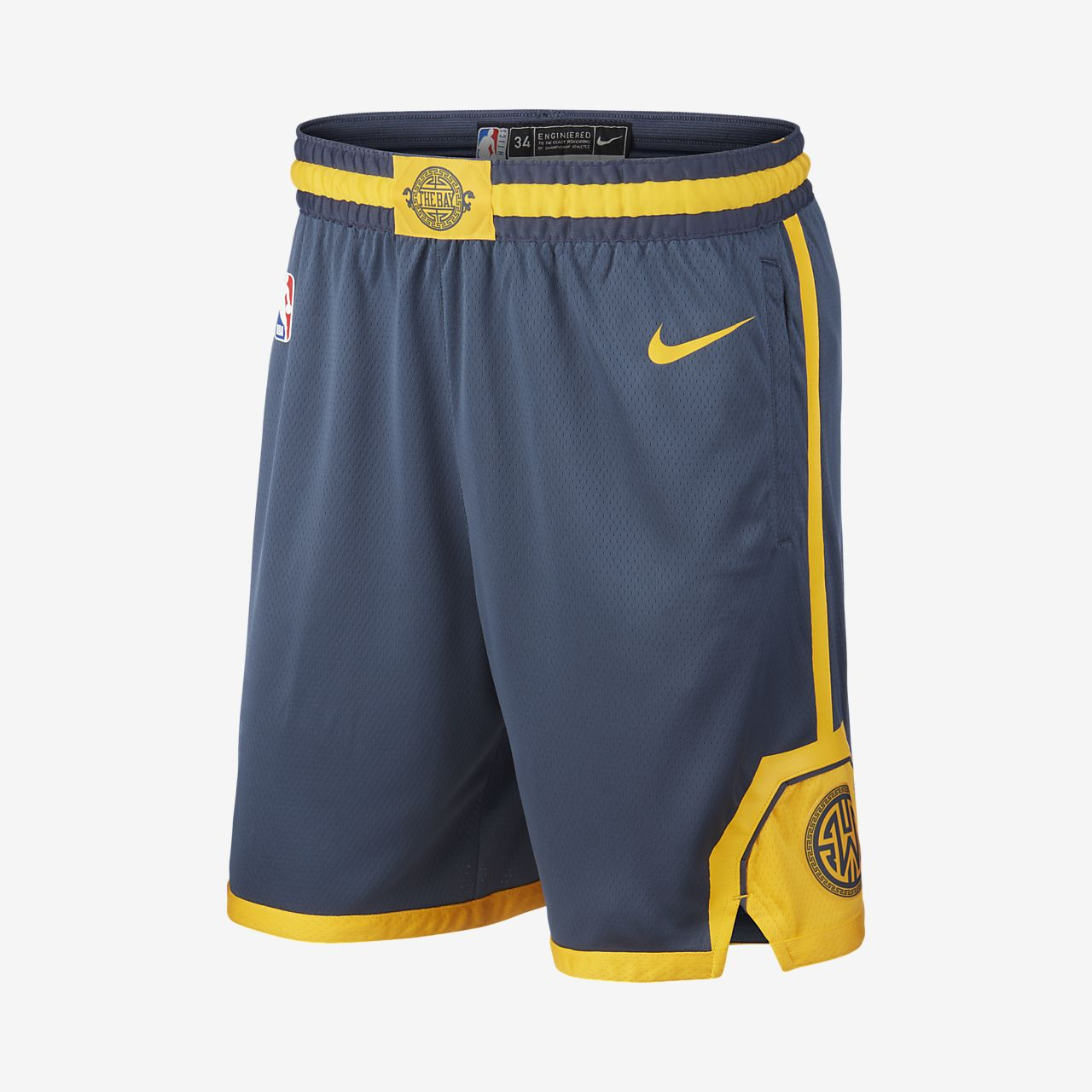 Short Nike NBA Golden State Warriors City Edition Swingman pour Homme