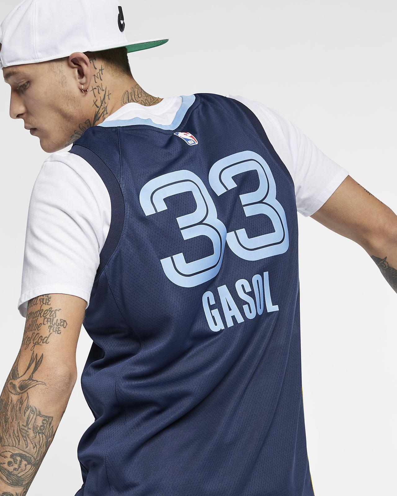 new arrivals 23c2b bf2c9 Marc Gasol Icon Edition Swingman (Memphis Grizzlies) Men's Nike NBA  Connected Jersey