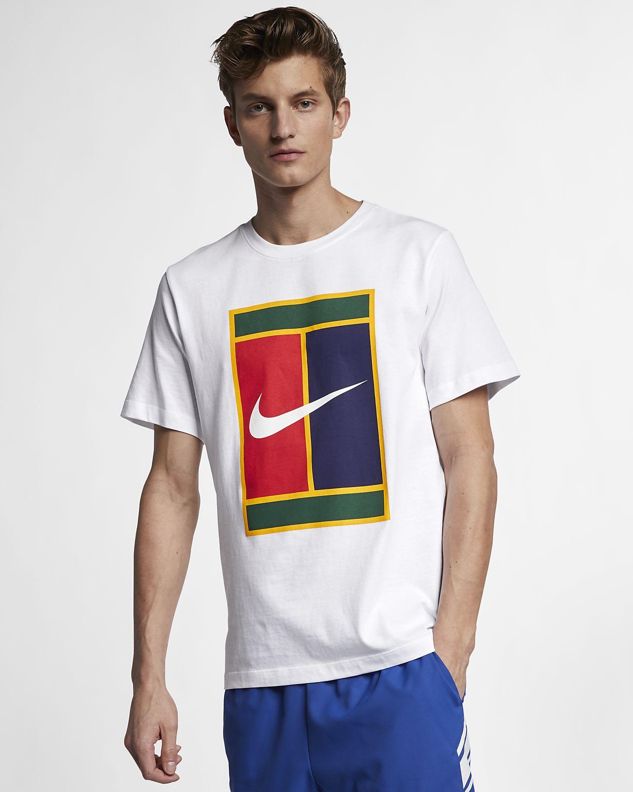 NikeCourt-tennis-T-shirt med logo til mænd