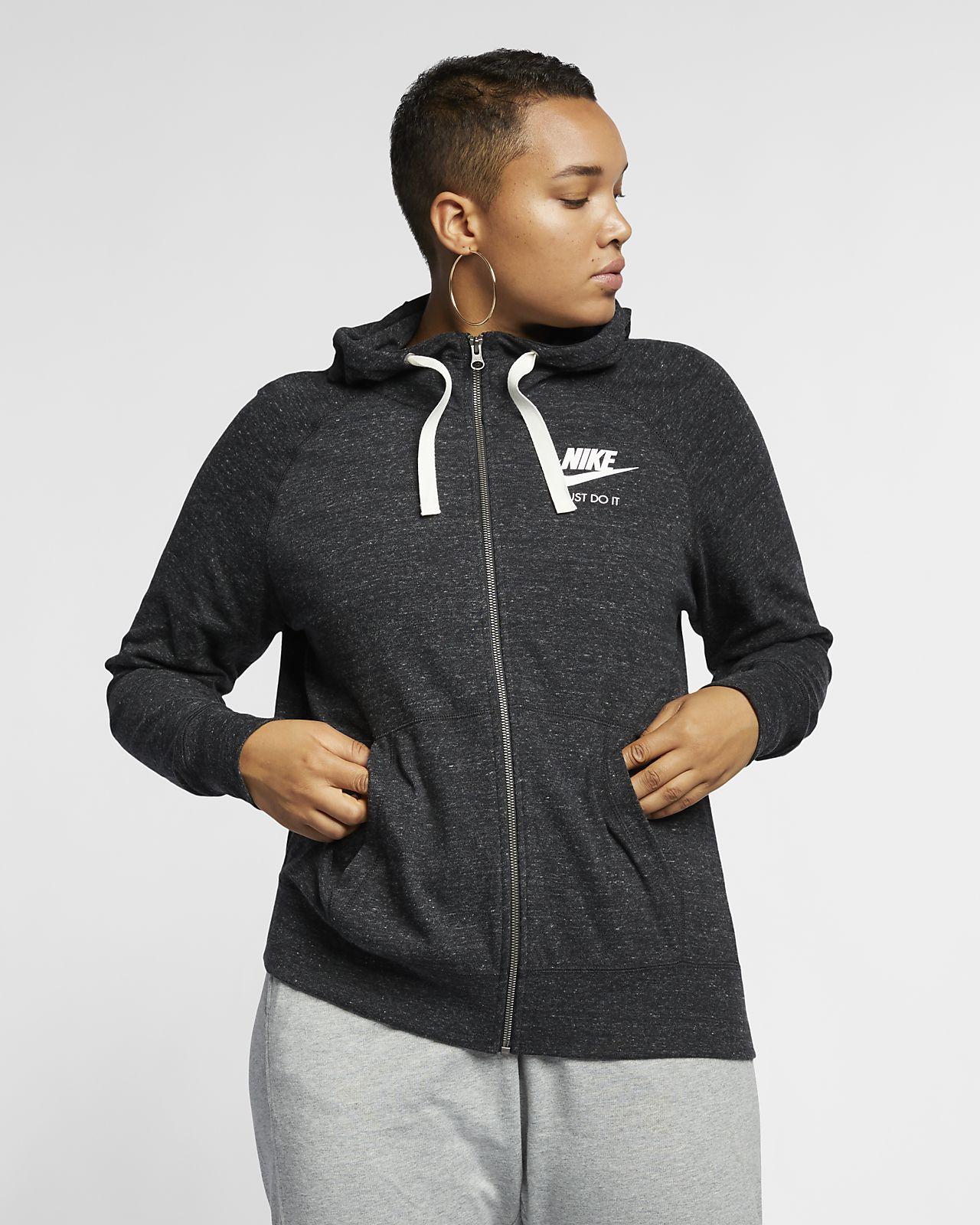 56a3647831f ... Nike Sportswear Gym Vintage Women s Full-Zip Hoodie (Plus Size)