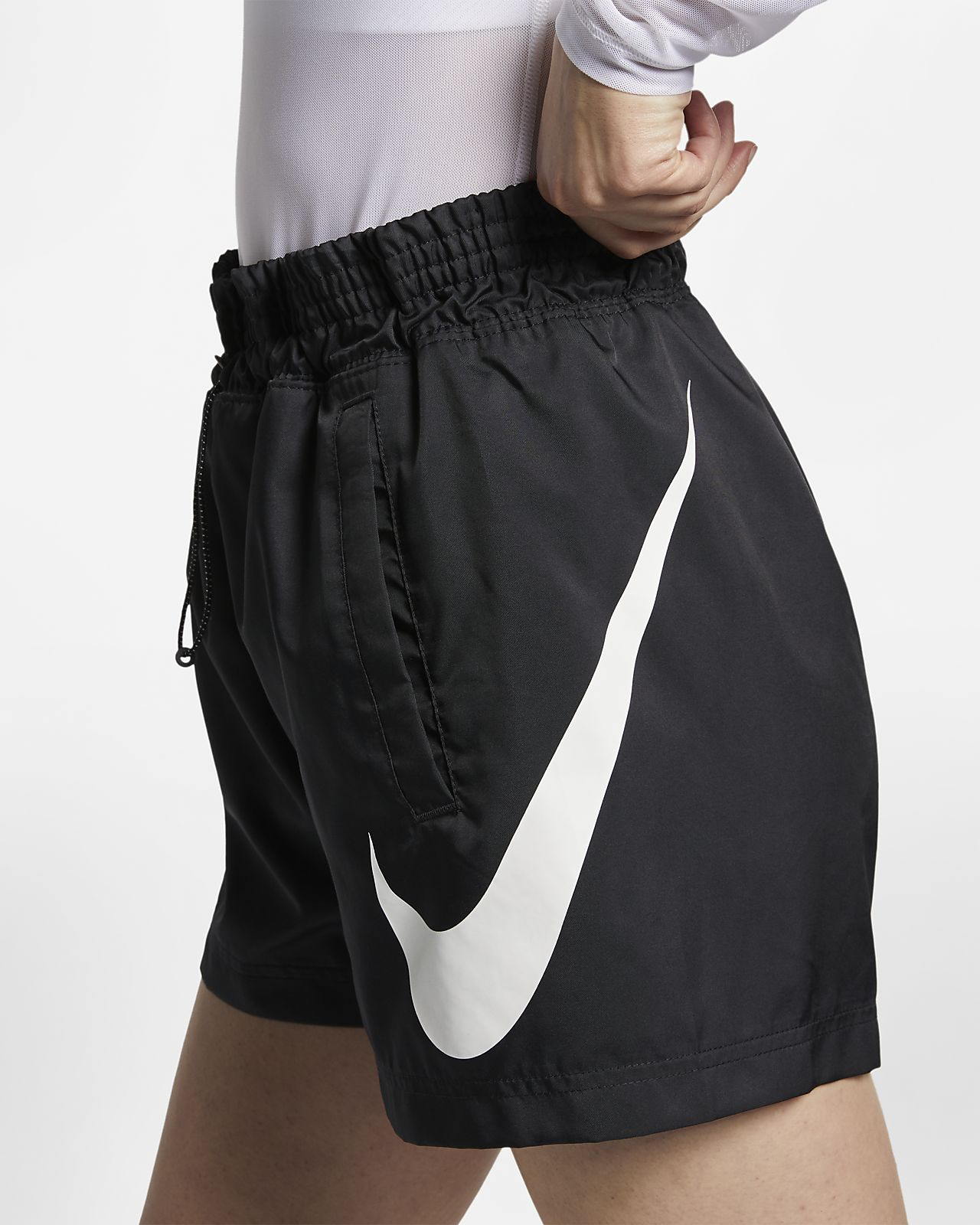 Γυναικείο υφαντό σορτς Nike Sportswear Swoosh