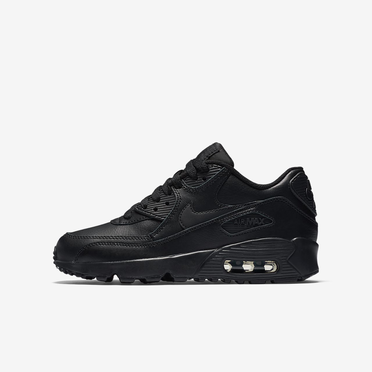 nike air max 90 black white leather