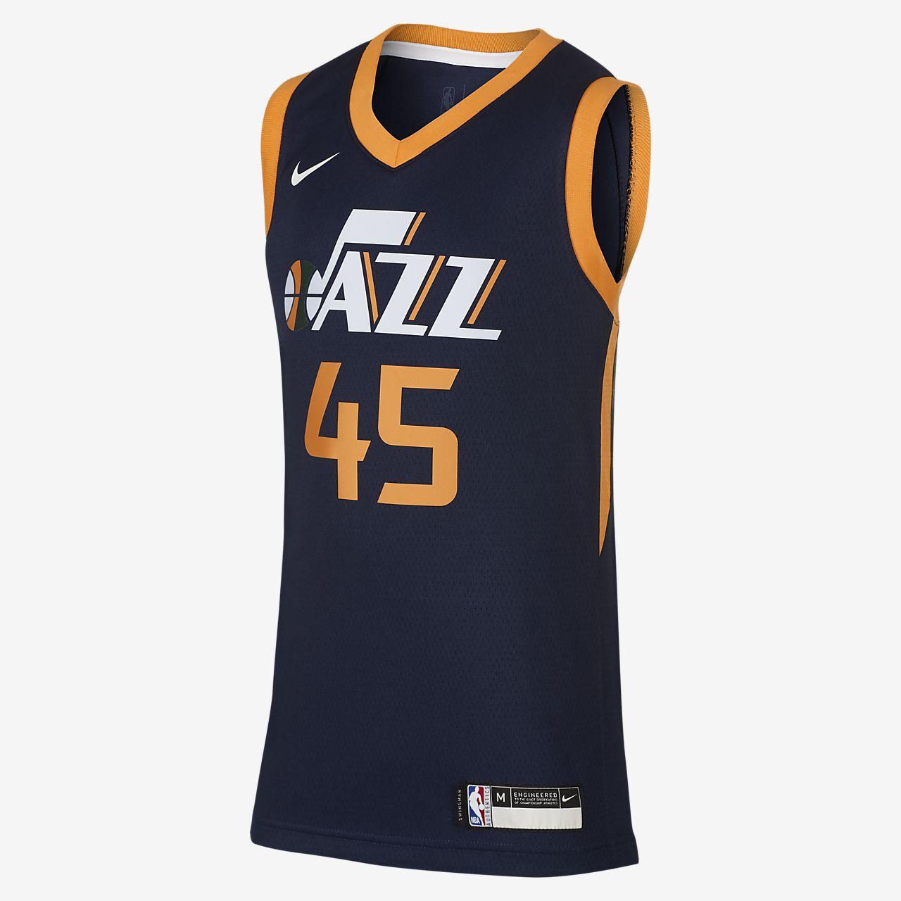 犹他爵士队 Icon Edition Swingman Nike NBA Jersey大童(男孩)球衣