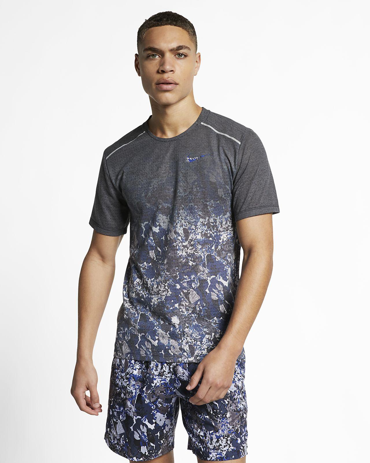 Nike Rise 365 男子短袖印花跑步上衣