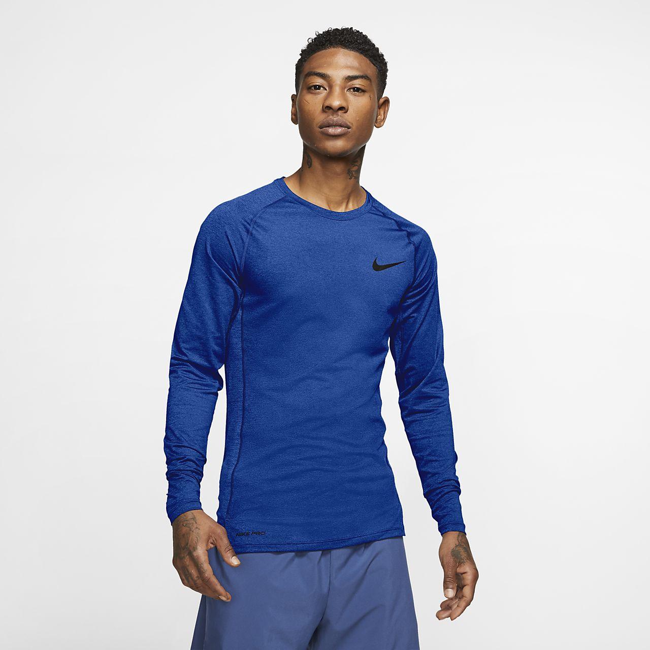 Camisola de manga comprida com corte justo Nike Pro para homem