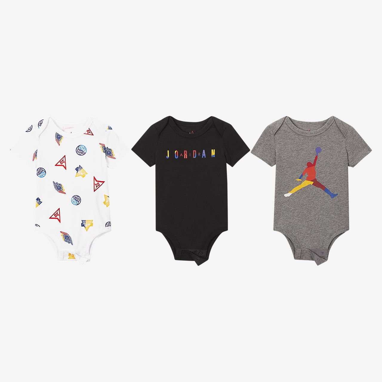 Jordan Baby (0–9M) Short-Sleeve Bodysuit (3-Pack)