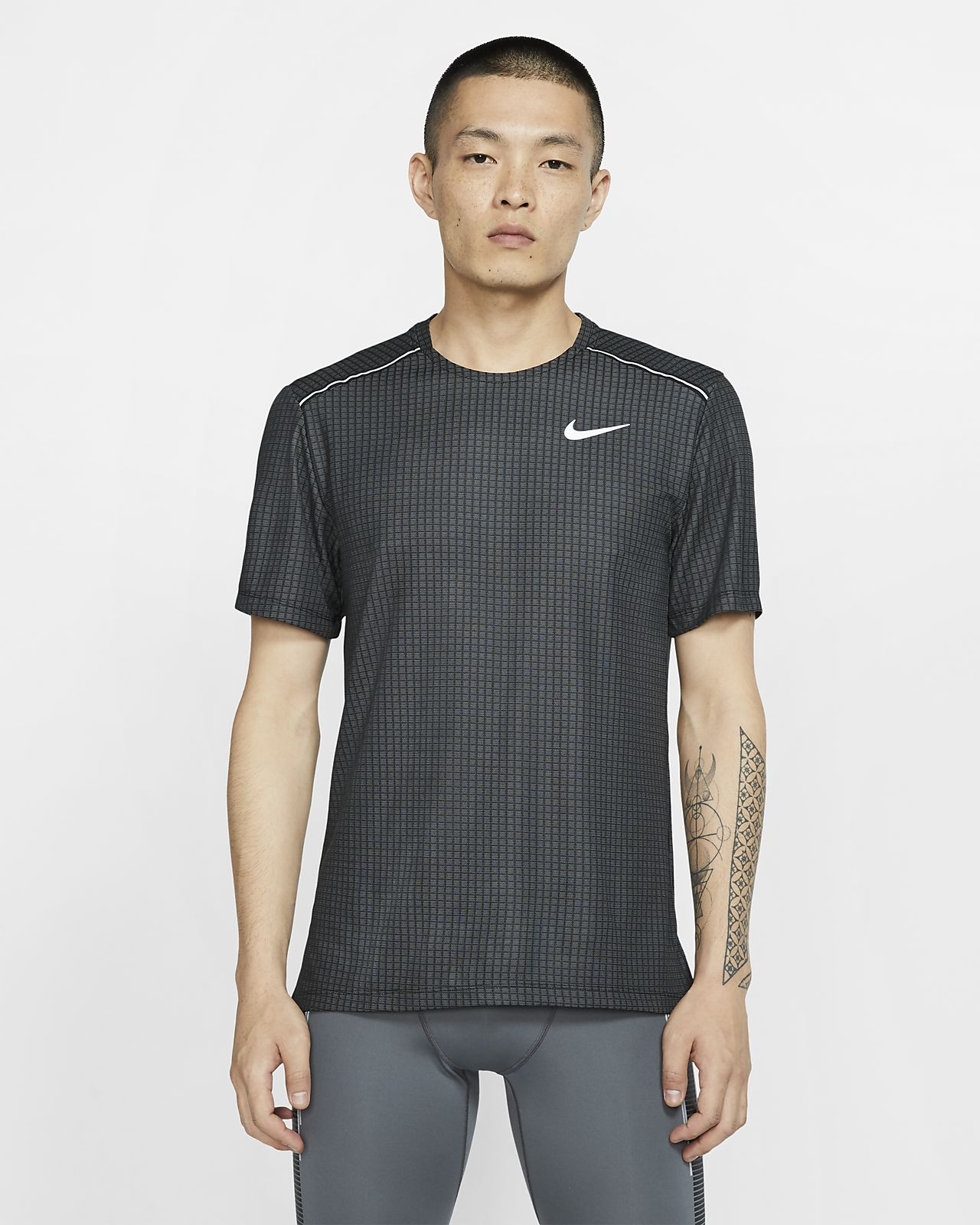 Ανδρική κοντομάνικη μπλούζα για τρέξιμο Nike Miler