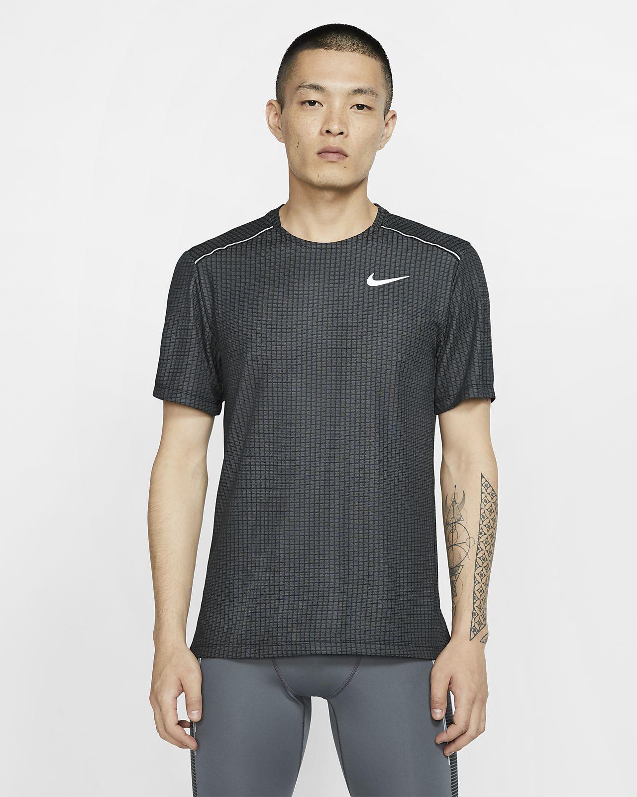 Nike Miler kortermet løpeoverdel til herre