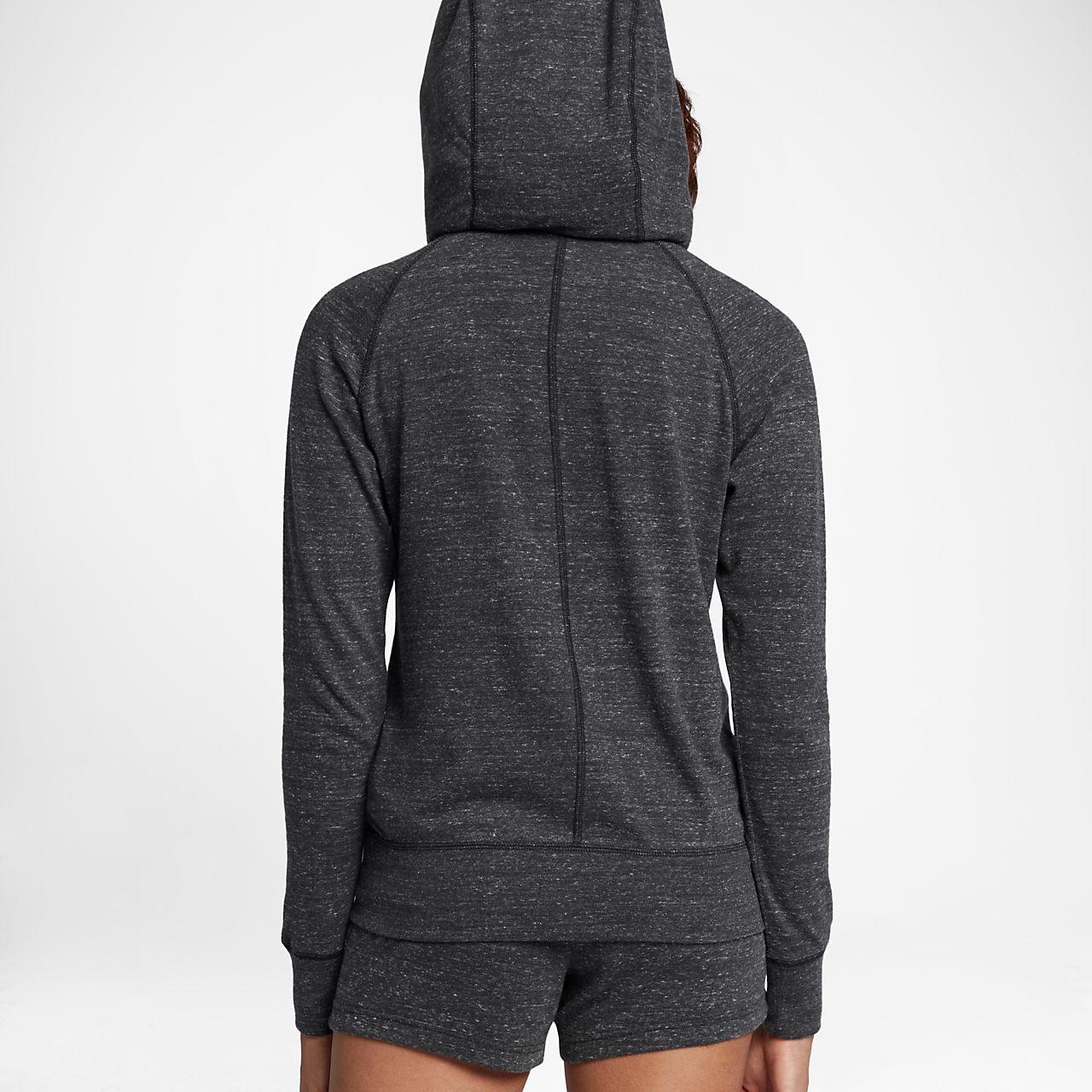 7ad4d9b3208 ... Sweat à capuche entièrement zippé Nike Sportswear Gym Vintage pour Femme