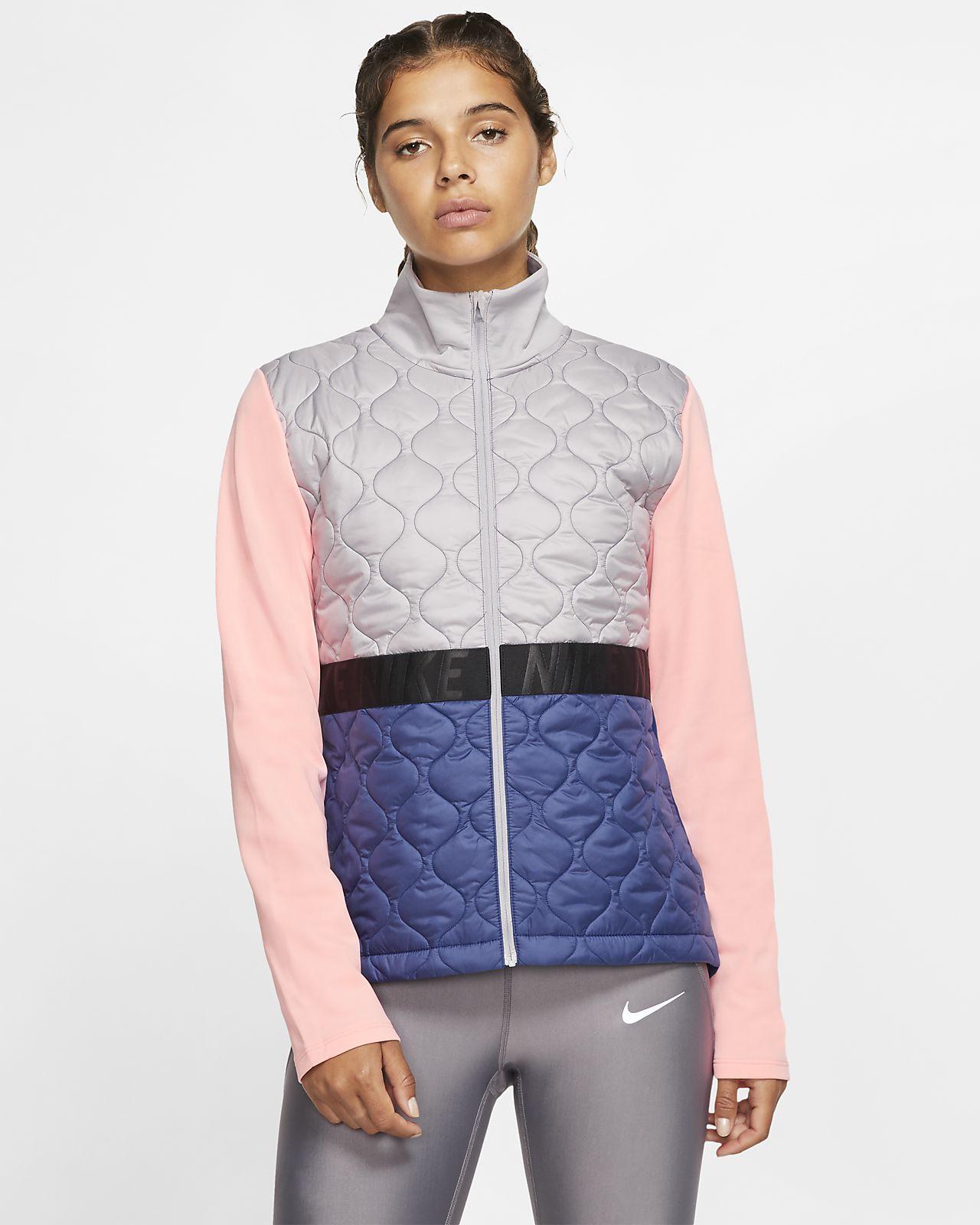 Chamarra de running para mujer Nike AeroLayer