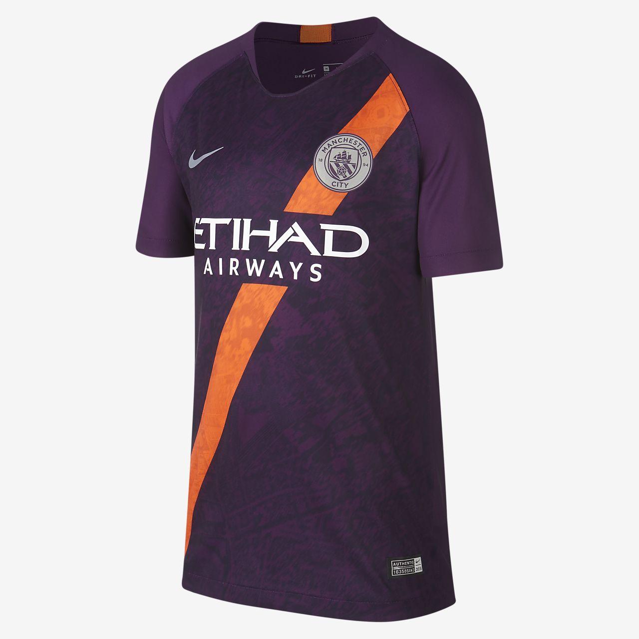 2018/19 Manchester City FC Stadium Third Older Kids' Football Shirt