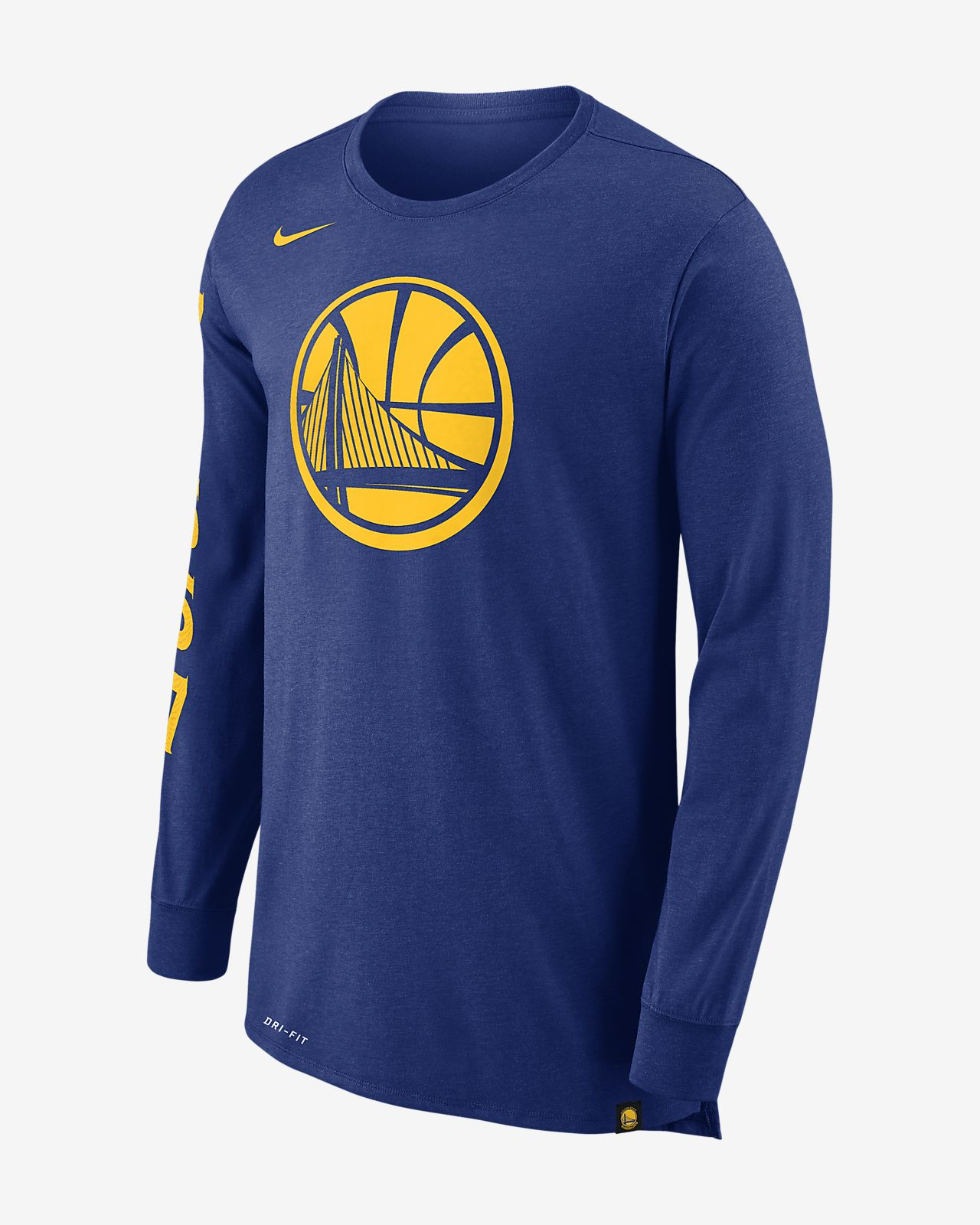 Golden State Warriors Nike Dry Men s Long Sleeve NBA T Shirt Nike