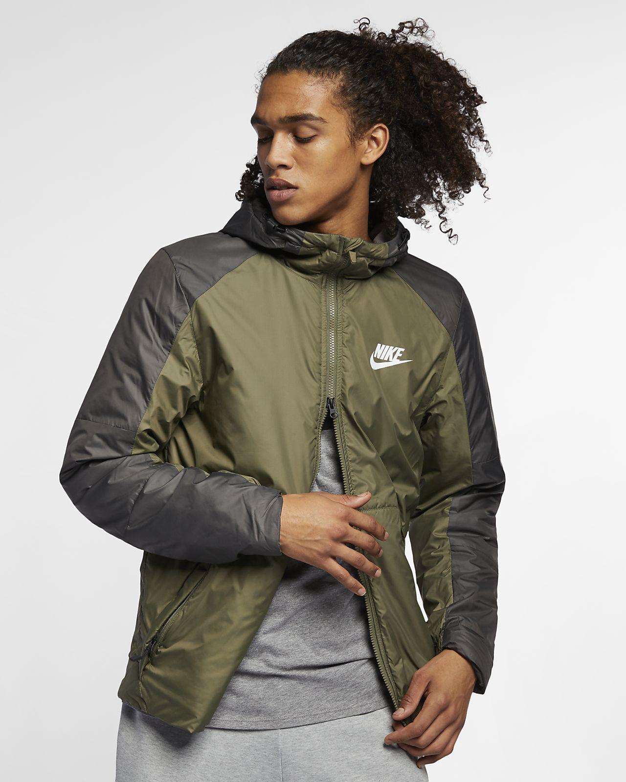Nike Sportswear-fleecejakke med hætte og syntetisk fyld til mænd