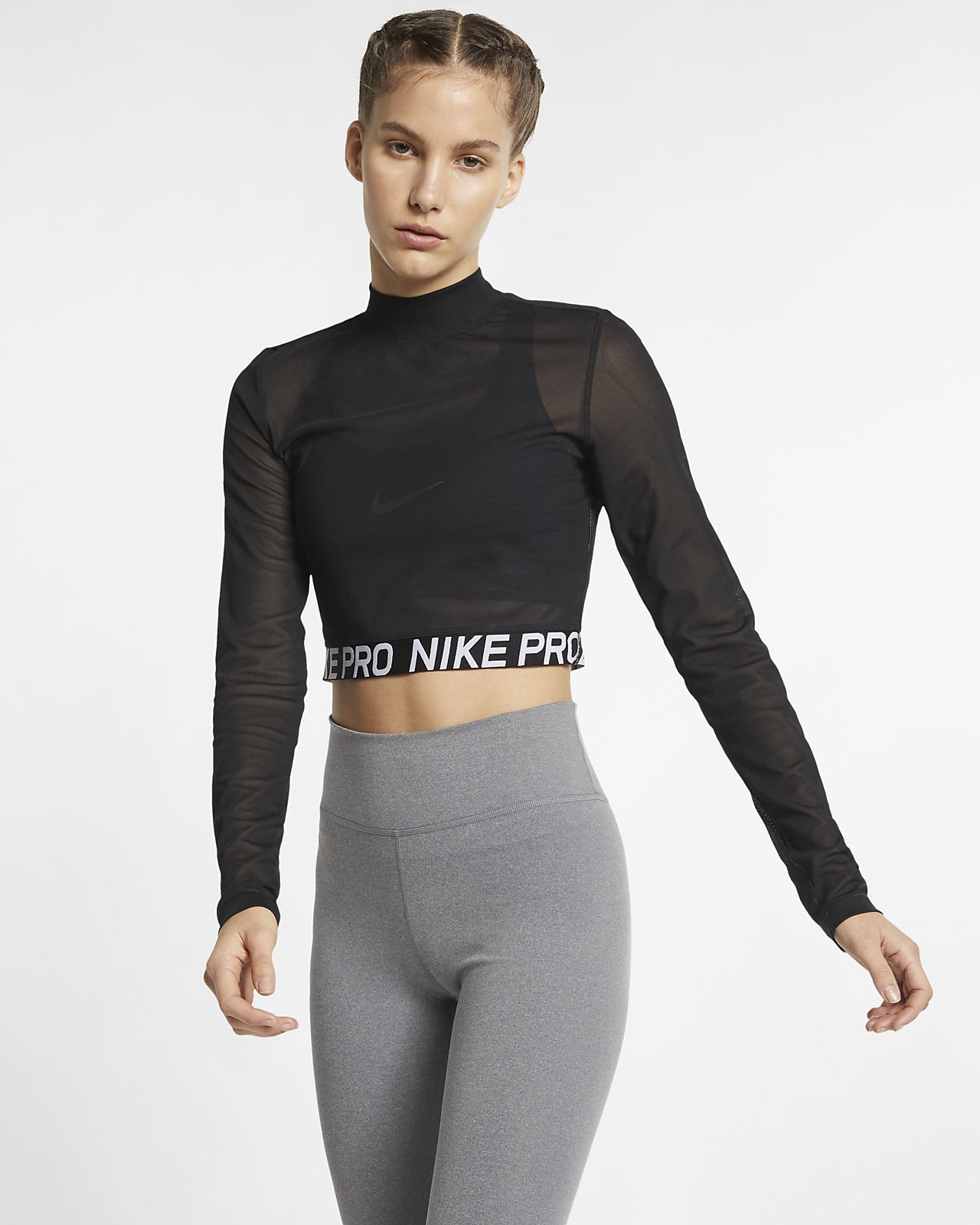 official photos 59b5e 60a73 Langærmet Nike Pro-top til kvinder