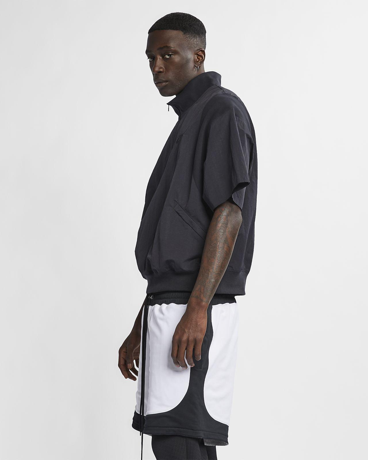 เสื้อแจ็คเก็ตแขนสั้นซิปสั้นผู้ชาย Nike x Fear of God