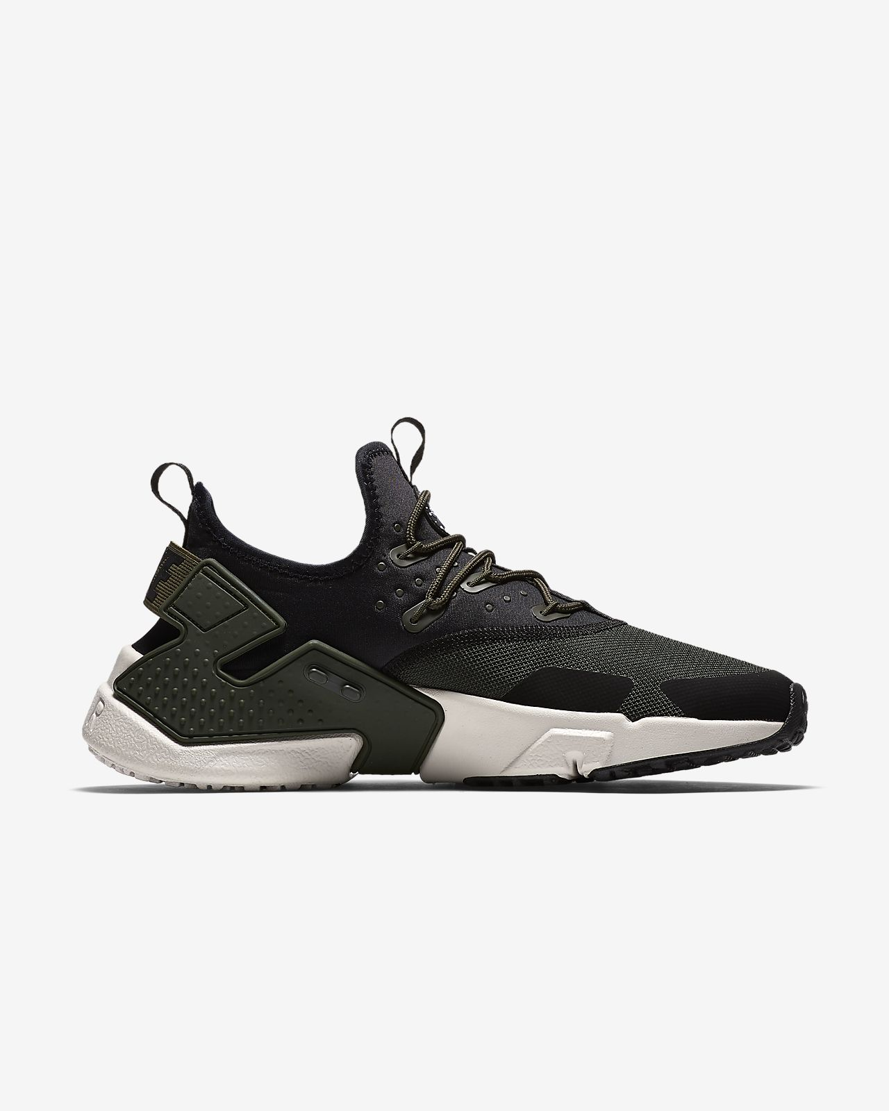 Basket mode - Sneakers NIKE Air Huarache Drift Noir Blanc AH7334 003 t5DOUE