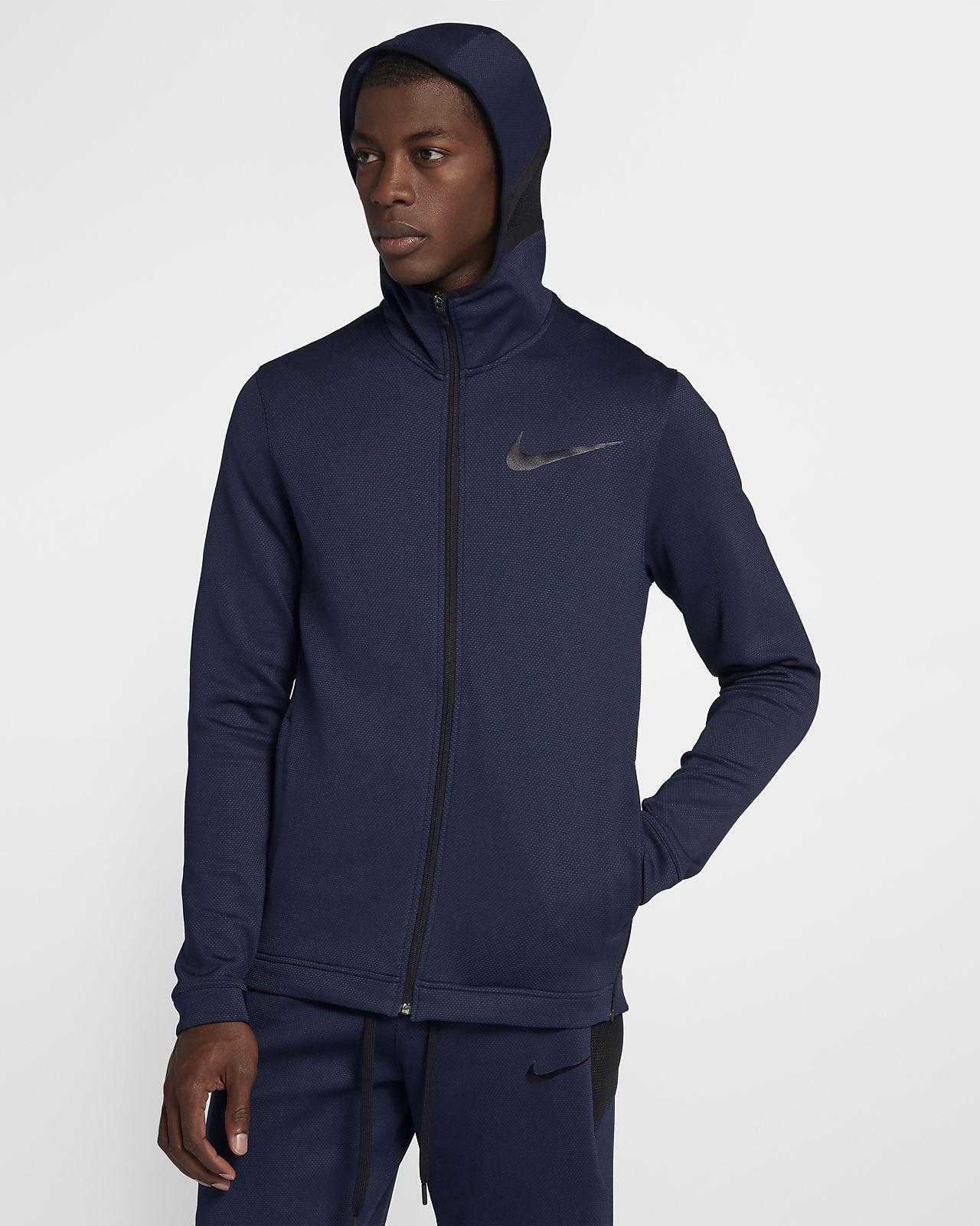 Sweat à capuche de basketball entièrement zippé Nike Therma Flex Showtime pour Homme