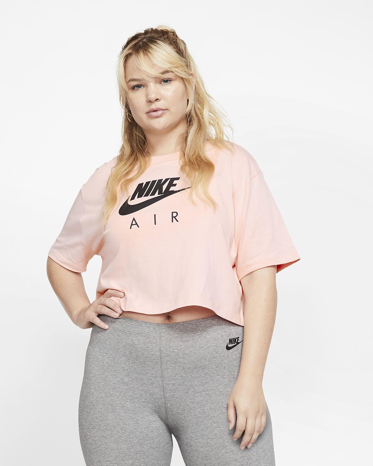Prenda para la parte superior de manga corta para mujer Nike Air (talla grande)