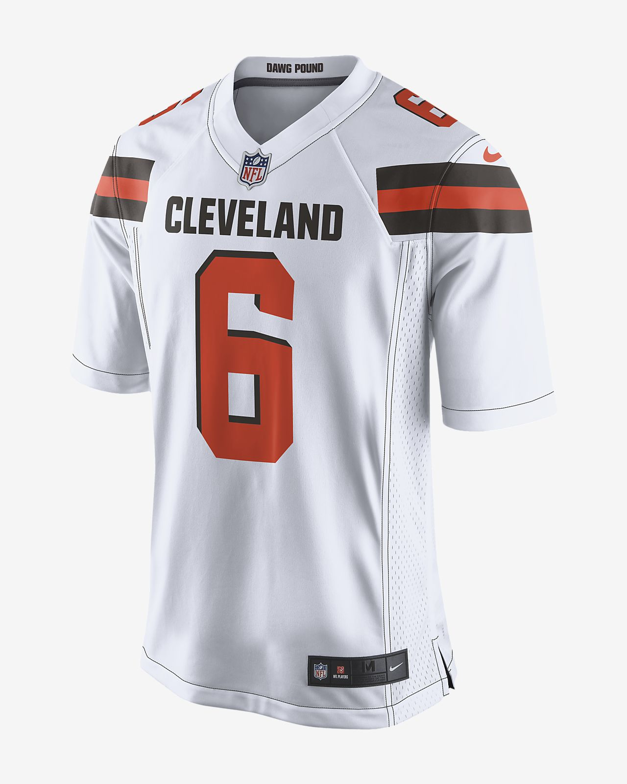 release date: 64b61 6c906 NFL Cleveland Browns (Baker Mayfield) Men's Game Football Jersey