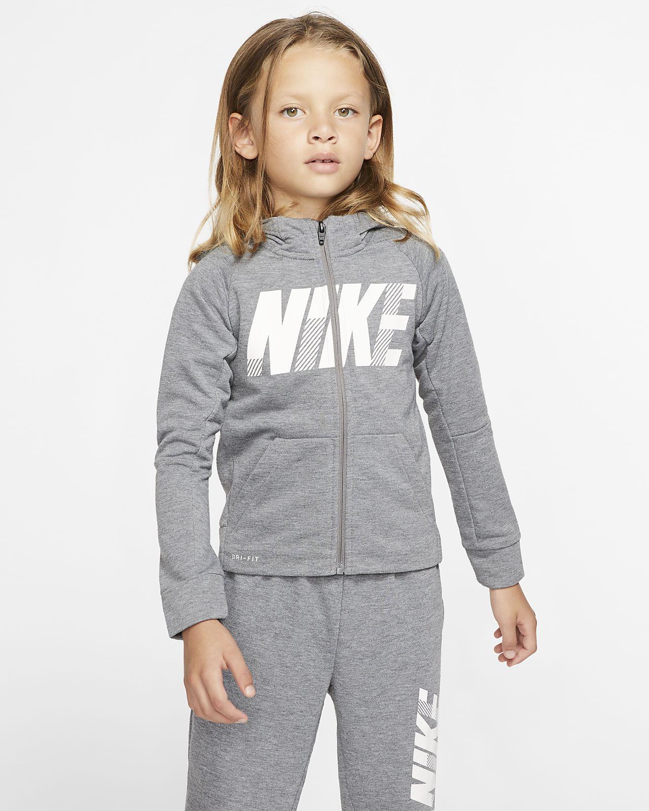 Nike Dri-FIT Little Kids' Full-Zip Hoodie